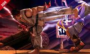 Ryu y Pit en el Castillo de Suzaku SSB4 (3DS)
