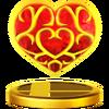 Trofeo de Contenedor de corazón SSB4 (Wii U)