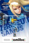 Embalaje del amiibo de Samus Zero (América)