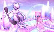 Mewtwo y Mew en Magicant SSB4 (3DS)