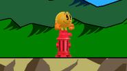Pac-Man sobre una boca de riego SSB4 (Wii U)