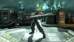 Pose de espera 2 Cloud SSB4 (Wii U)