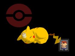 Pose de victoria Pikachu X SSBM