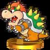 Trofeo de Paper Bowser SSB4 (3DS)