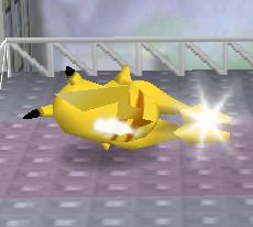 Ataque Smash hacia abajo de Pikachu (1) SSB