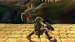 Ataque fuerte hacia abajo Link SSBB (1)