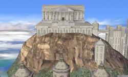 Edificio con columnas en el Templo SSBB