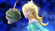 Estela en el escenario Galaxia Mario SSB4 (Wii U)