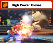 Mario con los High-Power Gloves SSB4