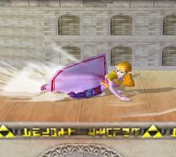 Ataque de recuperación de cara al suelo de Zelda (2) SSBM