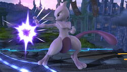 Ataque normal Mewtwo (1) SSB4 (Wii U)