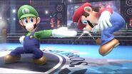 Luigi y mario en el Ring de Boxeo SSB4 (Wii U)