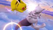 Mewtwo y Pikachu en Destino Final SSB4 (Wii U)
