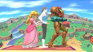 Peach Samus y la Entrenadora de Wii Fit en Ciudad Smash (SSB for Wii U)