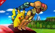 Pikachu y Samus SSB4 (3DS)