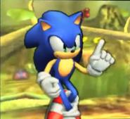 Pose de espera de Sonic SSB4 (3DS)