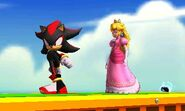 Shadow y Peach en 3D Land en SSB4(3DS)