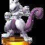 Trofeo de Mewtwo (peleador) SSB4 (3DS)