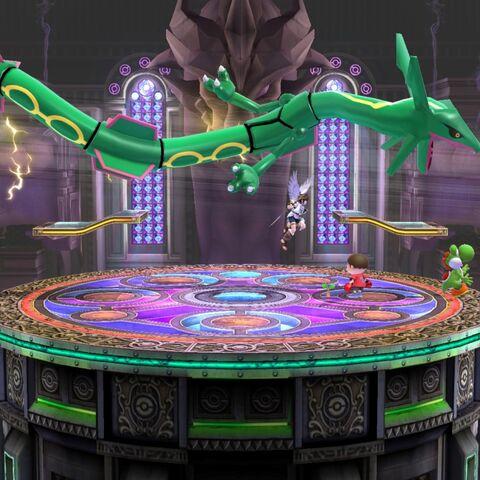 Rayquaza en la Liga Pokémon de Kalos.