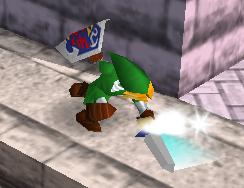Ataque Smash hacia abajo de Link (1) SSB
