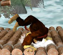 Ataque de recuperación de cara hacia arriba de Donkey Kong (1) SSBM