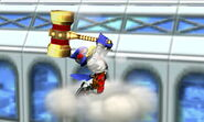 Falco usando el Martillo dorado SSB4 (3DS)