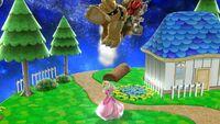 Lanzamiento hacia arriba Peach SSB4 Wii U