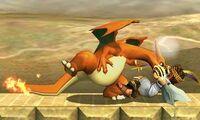 Lanzamiento hacia atras de Charizard (1) SSB4 (3DS)