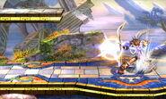 Pit a punto de lanzar una flecha de Palutena SSB4 (3DS)