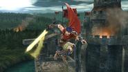 Ataque aéreo normal de Ike (2) SSB4 (Wii U)