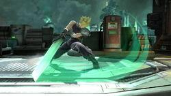 Ataque fuerte lateral Cloud SSB4 (Wii U)