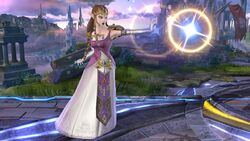 Ataque normal Zelda SSB4 Wii U