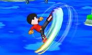Karateka Mii Patadas giratorias SSB4 (3DS)