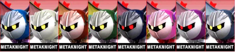 Paleta de colores de Meta Knight (JAP) SSB4 (3DS)