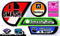 Pantalla superior del menu SSB4 (3DS)