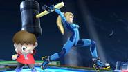 Samus Zero con el Martillo SSB4 (Wii U)
