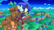 Sonic en la Zona Windy Hill SSB4 (Wii U)