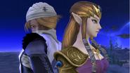 Zelda y Sheik en el Campo de Batalla SSB4 (Wii U)