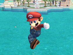 Ataque aéreo hacia abajo (1) Mario SSBB