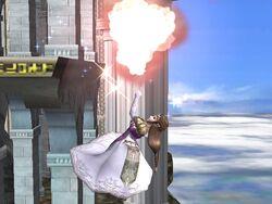 Ataque aéreo superior Zelda SSBB