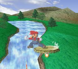 Ataque de recuperación de cara al suelo de Mario (1) SSBM