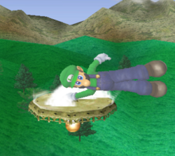 Ataque de recuperación de cara hacia arriba de Luigi (1) SSBM