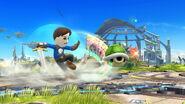 Espadachín Mii usando Tajo revés (2) SSB4 (Wii U)
