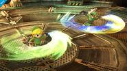 Link y Toon Link en la Central Geotérmica SSB4 (Wii U)