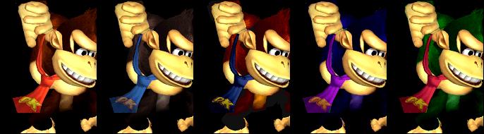 Paleta de colores Donkey Kong SSBM