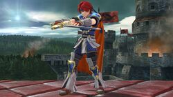 Pose de espera 2 Roy SSB4 (Wii U)