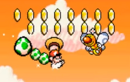 Superstar Mario en Super Mario World 2 Yoshi's Island