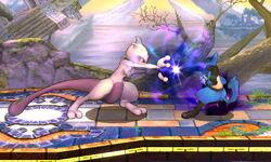 Ataque Smash hacia adelante Mewtwo (2) SSB4 (3DS)