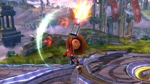Ataque fuerte hacia arriba Tirador Mii SSB4 Wii U
