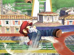 Ataque de recuperación al resbalar (1) Mario SSBB
